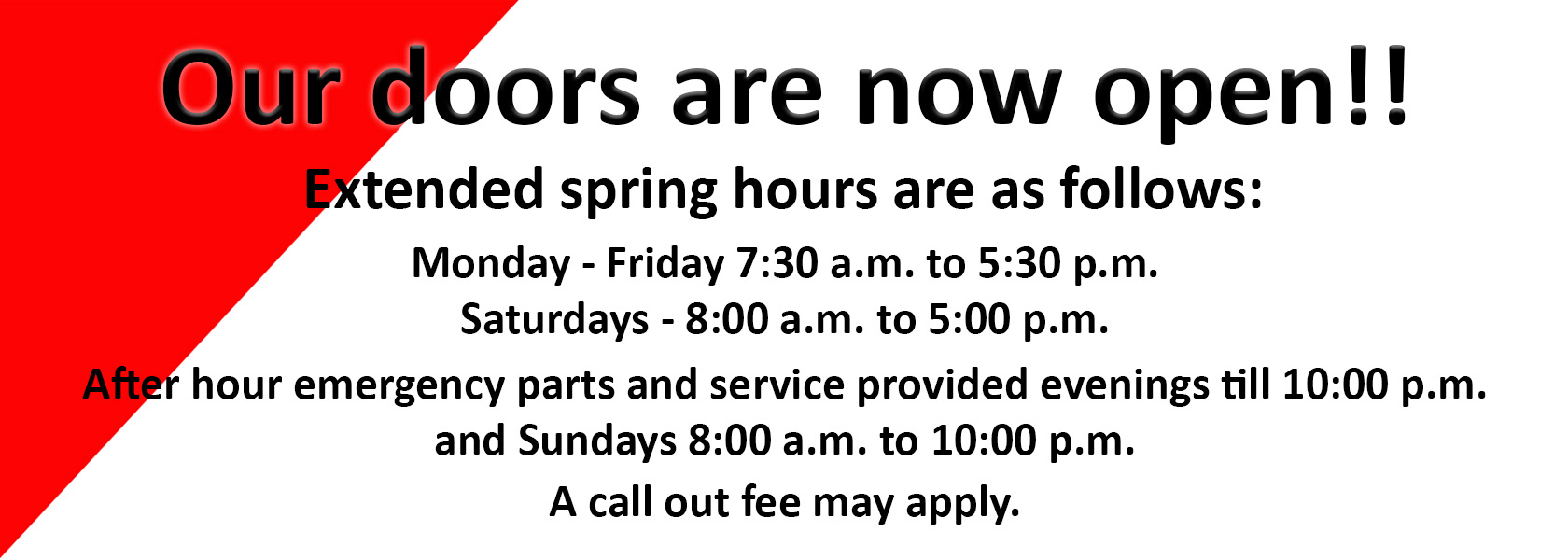 open spring hours